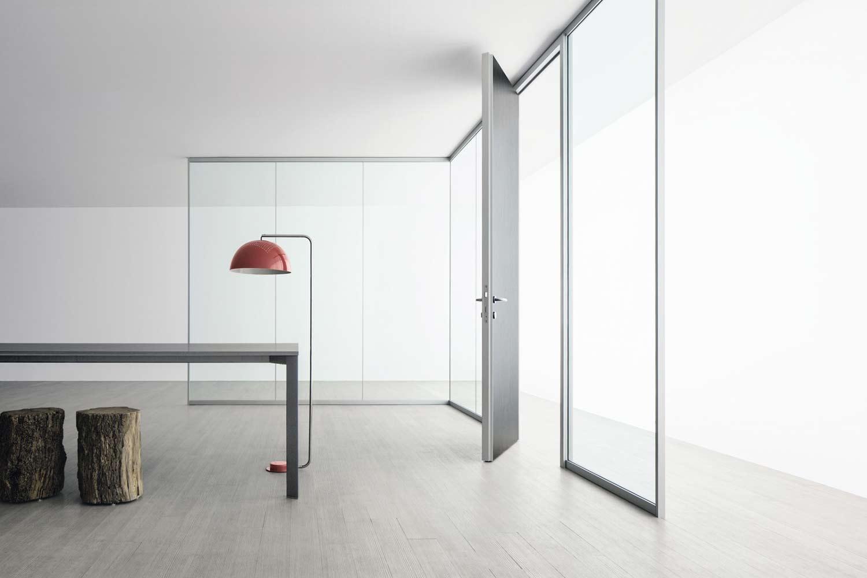 realizzazione divisori vetro