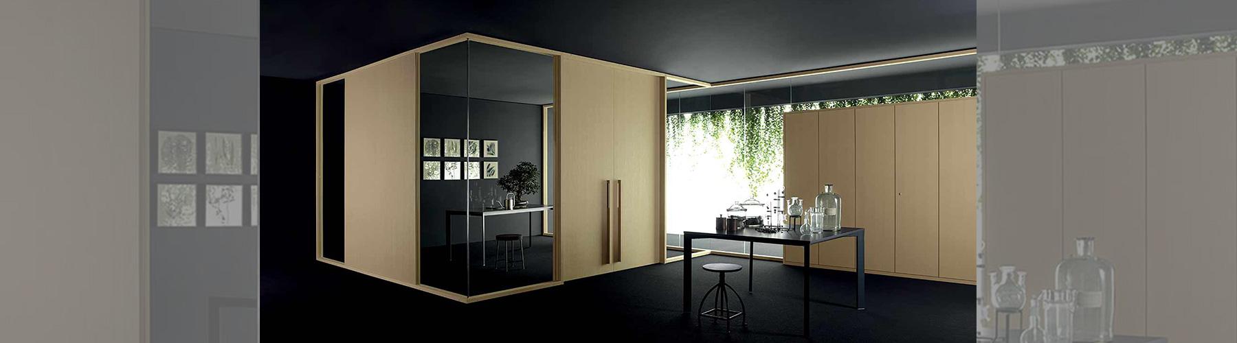 pareti divisorie legno